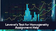 Levene's Test for Homogeneity Assignment Help